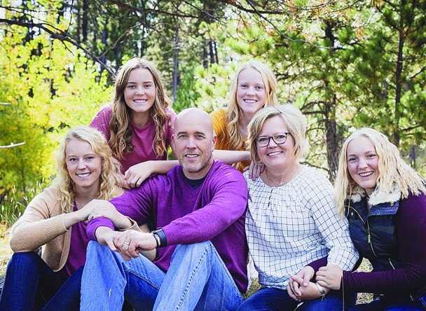 Custer High School's new activities director and assistant principal, Tobey Cass, and his wife, Stacey, are happy to be back in the Black Hills. He is also excited to be part of the Custer School District team. From left, back, are daughers Bailey and Allyson; front, daughter Hannah, Tobey, Stacey and daughter Jayme.