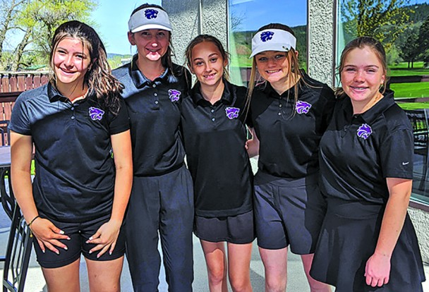 These five Custer High School golfers qualified to play as a team at next month's state tournament in Spearfish. From left are Shauna Zacher, Maddie Meyer, Jordan Uphoff, Lauryn Robb and MaKenna Allen. This is the first time Custer has qualified for state as a team since 2007