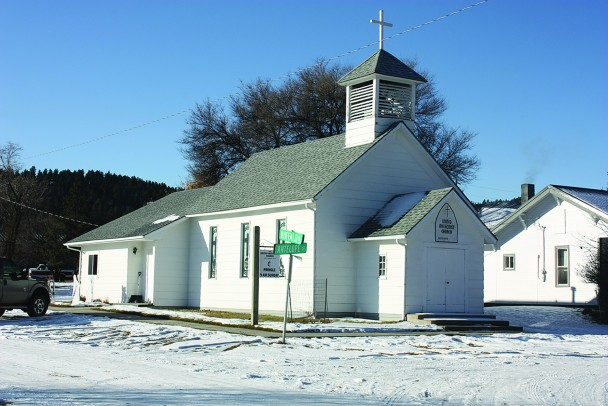 At 121 years old, the Pringle United Methodist Church is the only surviving church in the community of 108 souls. The church finally celebrated its centennial over the weekend with a special service, a potluck dinner and a cake with a picture of the church building in the frosting.